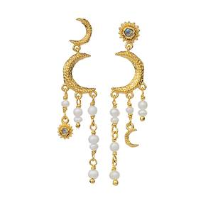 Bilde av Maanesten Astrea Earrings Gold