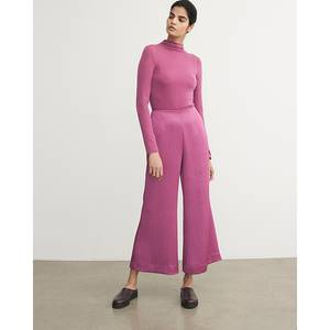 Image of Vince Satin Wide Flare Pant Camellia
