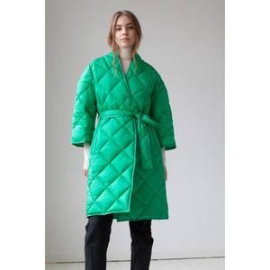 Bilde av Lempelius Quilted Kimono Coat Bright Green